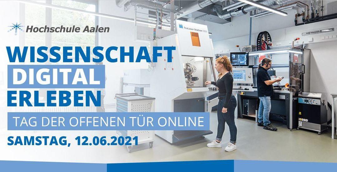 Wissenschaft digital erleben – Tag der offenen Tür 2021 an der Hochschule Aalen